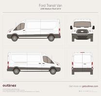 2013 Ford Transit Van LWB Medium Roof Van blueprint
