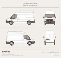 2007 Ford Transit Van MWB High Roof Facelift Van blueprint