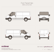 2000 Ford Transit Van MWB Low Roof Van blueprint