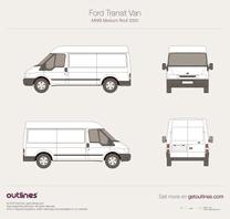 2000 Ford Transit Van MWB Medium Roof Van blueprint