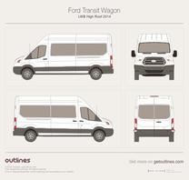 2013 Ford Transit Wagon LWB High Roof Wagon blueprint