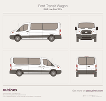 2013 Ford Transit Wagon RWB Low Roof Wagon blueprint