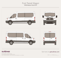 2013 Ford Transit Wagon RWB Medium Roof Wagon blueprint