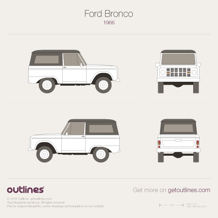 1966 Ford Bronco Mk I SUV blueprint