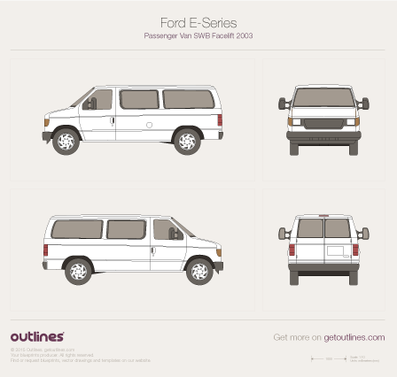 1997 Ford E150 Traveler Wagon blueprint