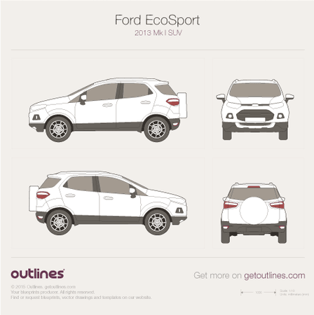 2013 Ford EcoSport SUV blueprint