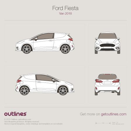 Ford Fiesta blueprint