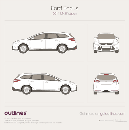 2010 Ford Focus Mk III Wagon blueprint