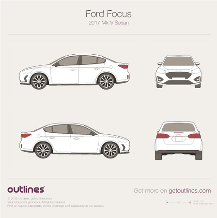 2017 Ford Focus IV Sedan blueprint