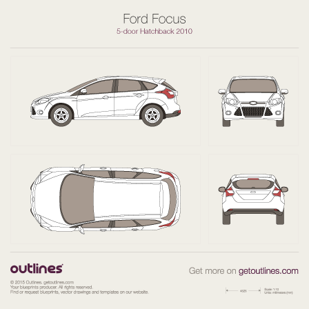 Ford Focus drawings