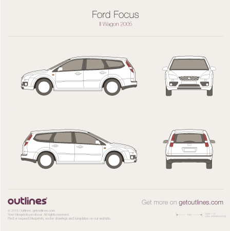2005 Ford Focus Mk II Wagon blueprint
