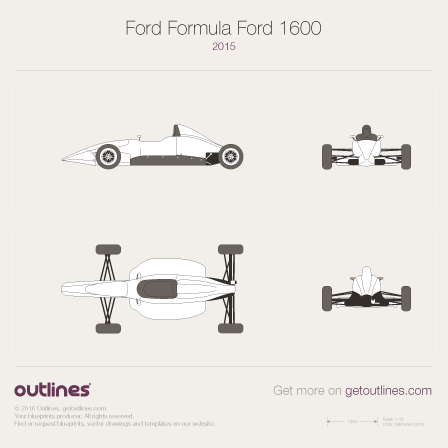 2015 Ford Formula Ford 1600 Formula blueprints and drawings