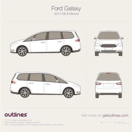 2015 Ford Galaxy III Minivan blueprints and drawings