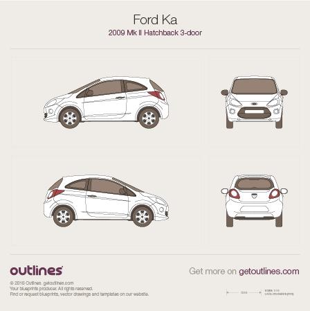 2009 Ford Ka II Hatchback blueprints and drawings