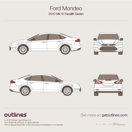 2010 Ford Mondeo IV Facelift Sedan blueprint