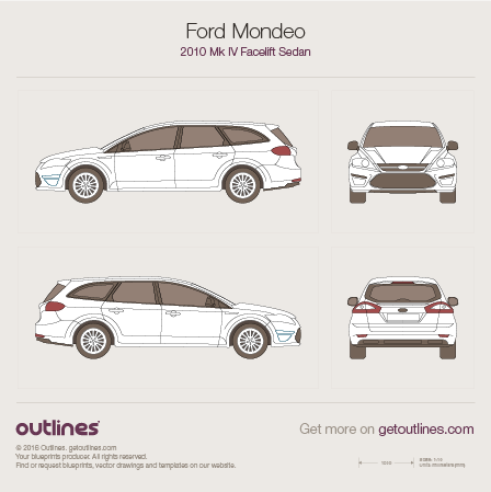 2010 Ford Mondeo IV Facelift Wagon blueprint