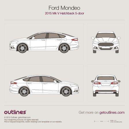 2015 Ford Mondeo V Liftback Hatchback blueprint