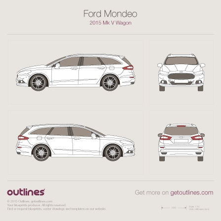 2015 Ford Mondeo V Wagon blueprint