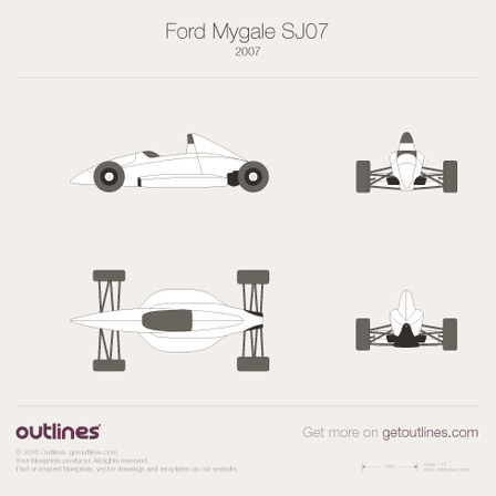 2007 Ford Mygale SJ07 Formula blueprints and drawings