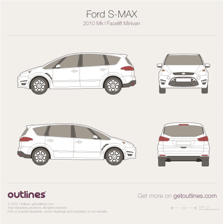 2010 Ford S-Max Facelift Minivan blueprint