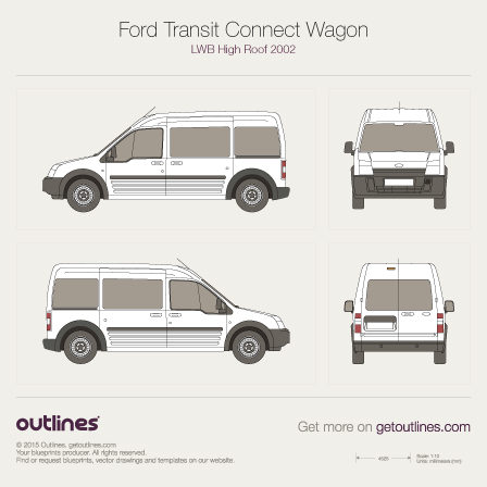 Ford Tourneo Connect drawings