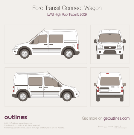 Ford Transit Connect drawings