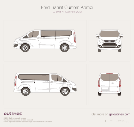 Ford Transit Custom drawings