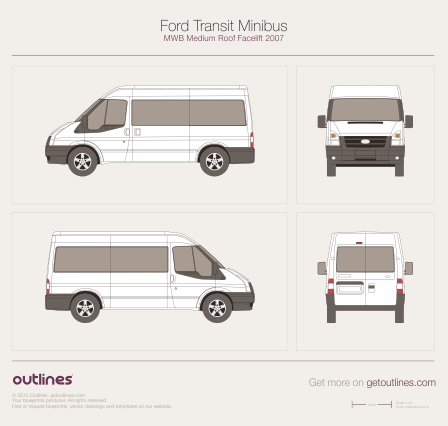 2007 Ford Transit Minibus Wagon blueprints and drawings