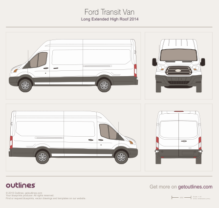 2013 Ford Transit Van Van blueprints and drawings