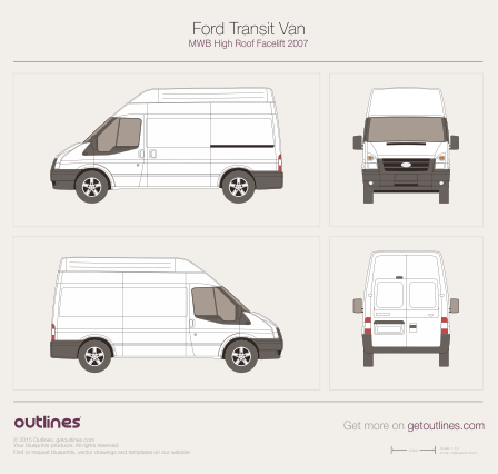 2007 Ford Transit Van Van blueprints and drawings