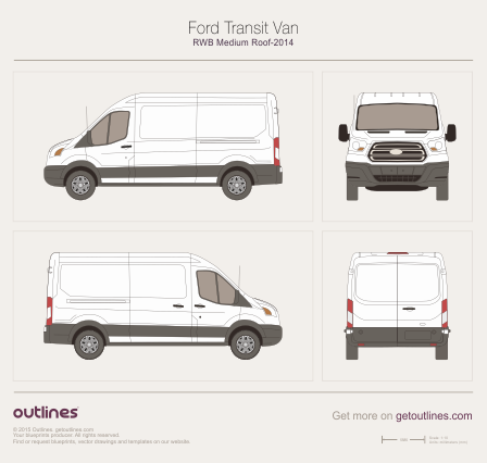 2013 Ford Transit drawings - Outlines