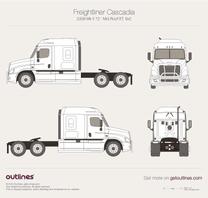 2009 Freightliner Cascadia Mk II 72'' Mid Roof XT, 6x2 Heavy Truck blueprint
