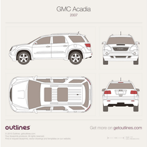 2007 GMC Acadia SUV blueprint