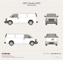 GMC Savana blueprint