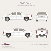 GMC Sierra blueprint