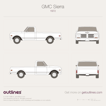 1973 GMC Sierra 1000 Mk I Regular Cab Long Bed Pickup Truck blueprint
