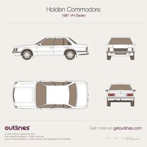 1981 Holden Commodore VH Sedan blueprint