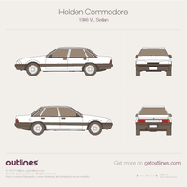 1986 Holden Commodore VL Sedan blueprint