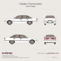 1991 Holden Commodore VP Sedan blueprint