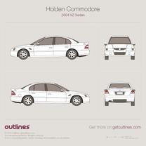 2004 Holden Commodore VZ Sedan blueprint