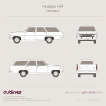 1966 Holden HR Wagon blueprint