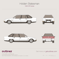 1994 Holden Statesman VR Sedan blueprint