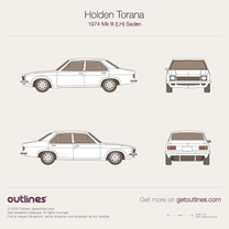 1974 Holden Torana Mk III (LH) Sedan blueprint