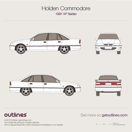 1991 Holden Commodore VP Sedan blueprint