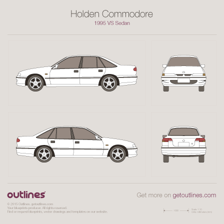 1995 - 1997 Holden Commodore VS Sedan drawings