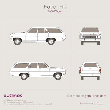Holden HR blueprint