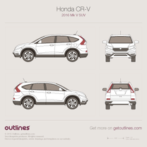 2016 Honda CR-V Mk V SUV blueprint