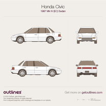 1987 Honda Civic EC Sedan blueprint
