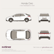 2006 Honda Civic FN 3-door Hatchback blueprint