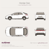 2006 Honda Civic FK 5-door Hatchback blueprint